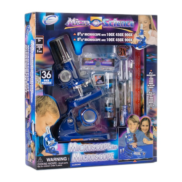 Микроскоп детский Eastcolight 100-900 36 предметов (MP-900)