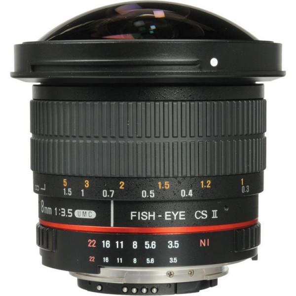 Samyang 8mm f/3.5 AS IF UMC Fish-eye CS II AE Nikon