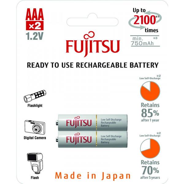 Аккумулятор Fujitsu AAA 750mAh HR-4UTCEU(2B), 2 шт.