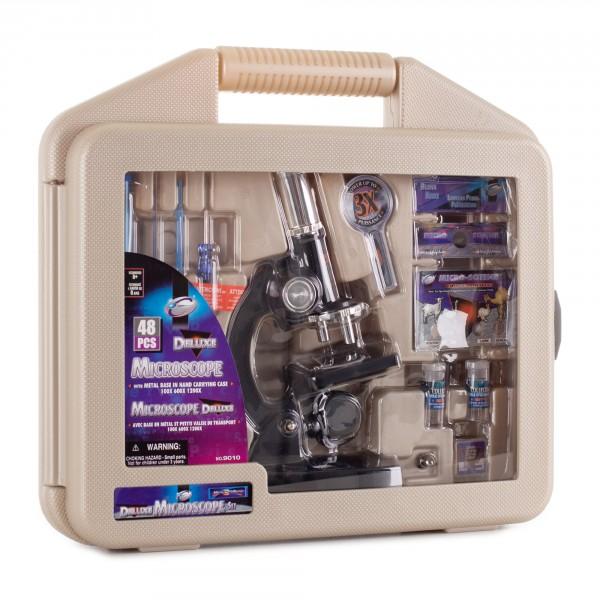 Микроскоп школьный Eastcolight 100/600/1200x в кейсе 48 предметов