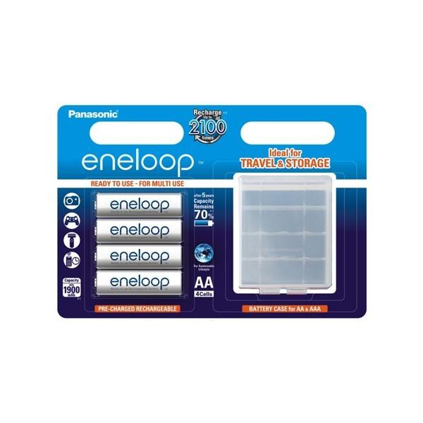 ����������� PANASONIC Eneloop AA 1900 4BP (BK-3MCCEC4BE) 1900 mAh, 4 ��, �������, AA, � ������