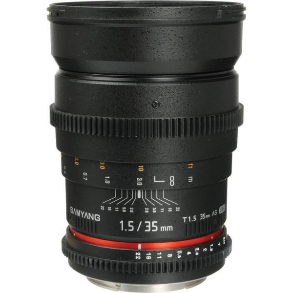 Объектив Samyang 35mm T1.5 VDSLR Sony-E (NEX)