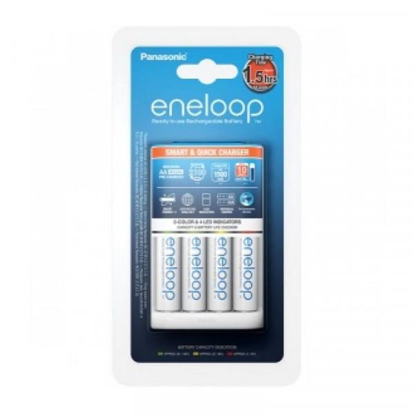 Зарядное устройство Panasonic Smart & Quick (K-KJ55MCС40E) для 1-4 аккумуляторв типа АА/ААА Ni-MH +