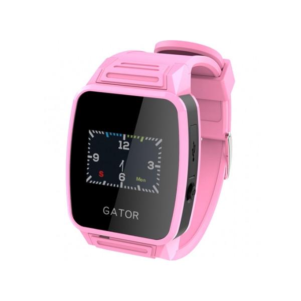 Детские умные часы Gator Caref Watch с GPS трекером, розовые