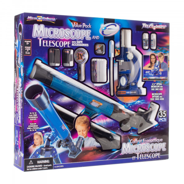 Набор Eastcolight Телескоп и микроскоп 35 предметов