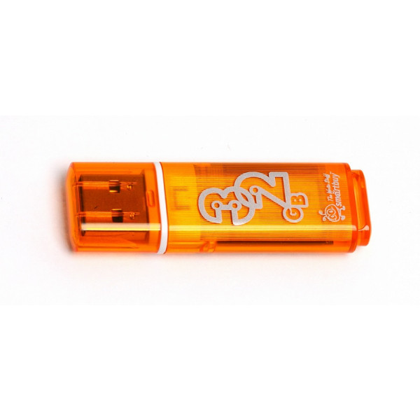 flash ���������� Smartbuy 32GB Glossy series Orange