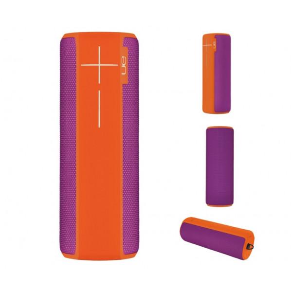 Беспроводная колонка Logitech Ultimate Ears Boom 2, оранжевая с фиолетовым