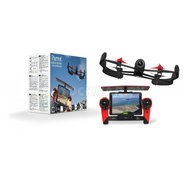 Квадрокоптер Parrot Bebop Drone + Skycontroller, красный