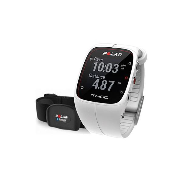 Спортивные часы Polar M400 HRM, белые
