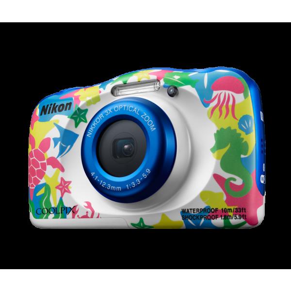 Цифровой фотоаппарат Nikon Coolpix W100 морской с рюкзаком