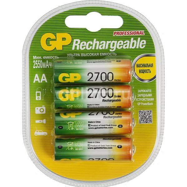 Аккумулятор GP AA 2700mAh, 4 шт.