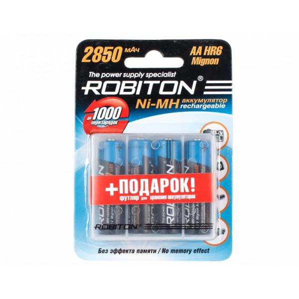 Аккумулятор Robiton AA 2850 mAh, 4 шт. с кейсом
