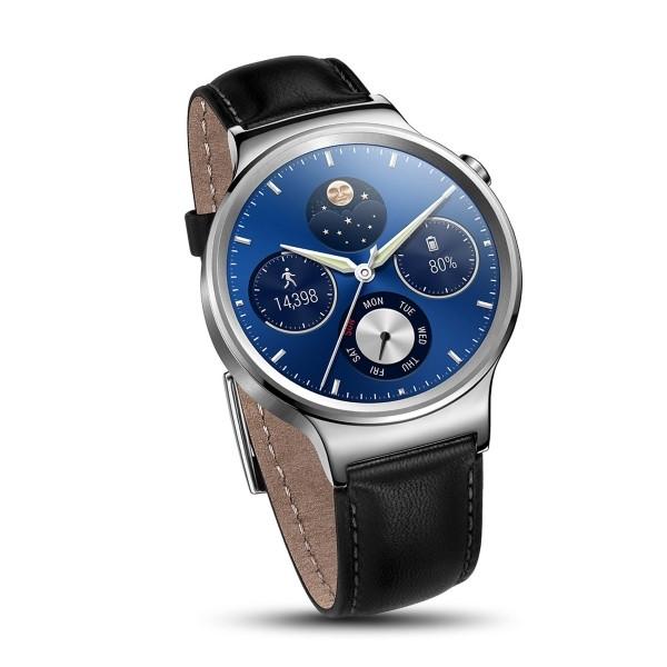 Умные часы Huawei Watch Classic серебристые, кожаный ремешок