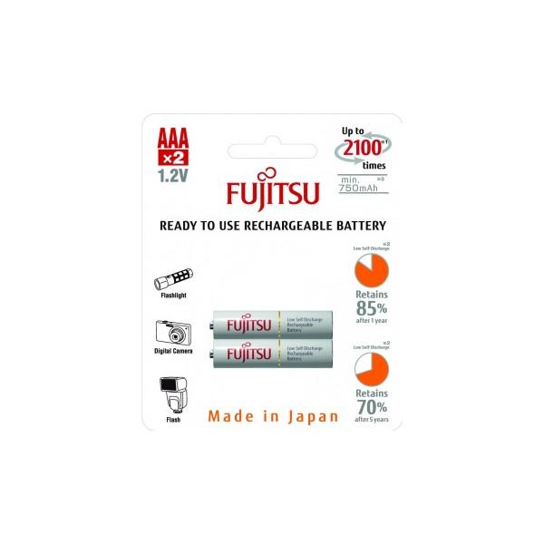 Аккумулятор Fujitsu AAA 750mAh HR-4UTCEX(2B), 2 шт.
