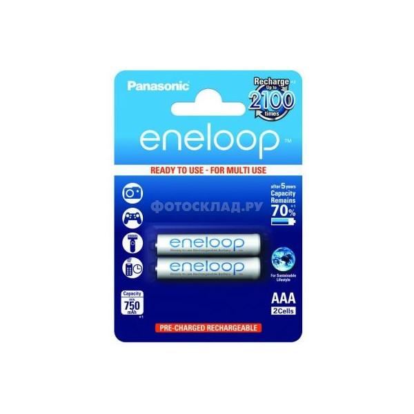 ����������� PANASONIC Eneloop AAA 750 2BP (BK-4MCCE/2BE) 750 mAh, (2 ��.)