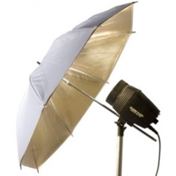 Зонт Falcon Eyes Urn-48Gw отражающий золото/белый 105 см