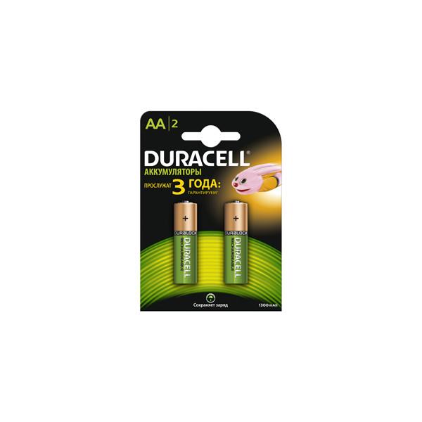 Аккумулятор Duracell AA 1300mAh (2/20/4200), 2 шт.