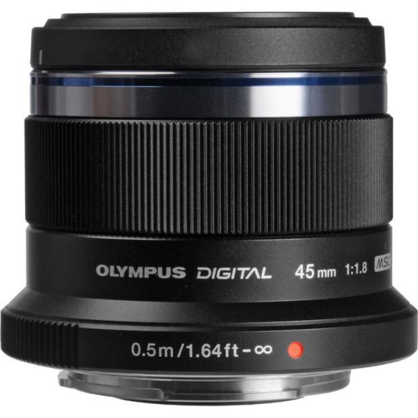 Объектив Olympus M. Zuiko Digital ED 45mm f/1.8, черный