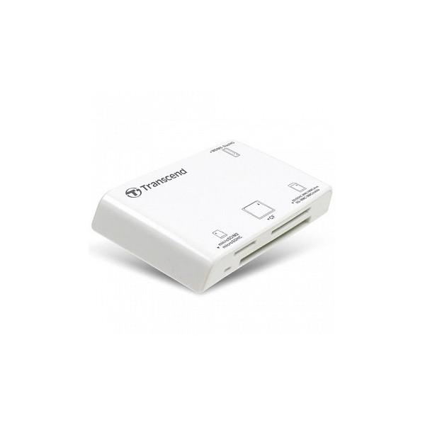 Картридер Transcend RDP8 All-in-1 USB 2.0 белый