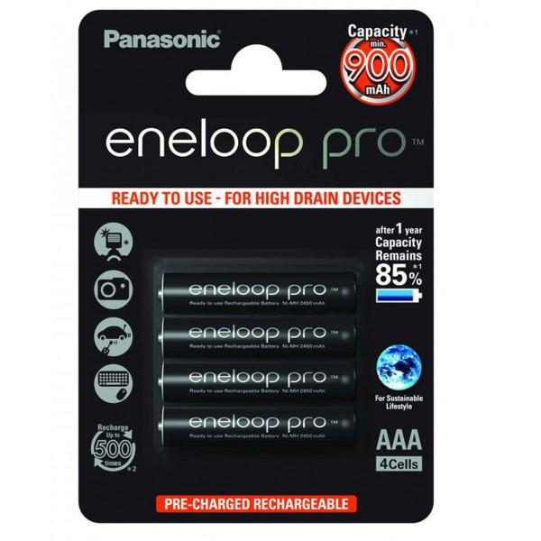 Аккумулятор Panasonic Eneloop Pro AAA 900mAh (BK-4HCCE/4BE), 4 шт.