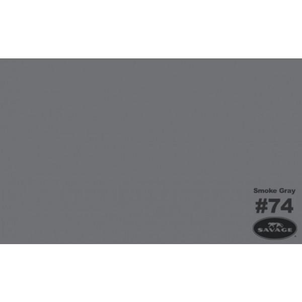 Фон бумажный Savage 74-12 Widetone Smoke Gray Серый 2.72x11м