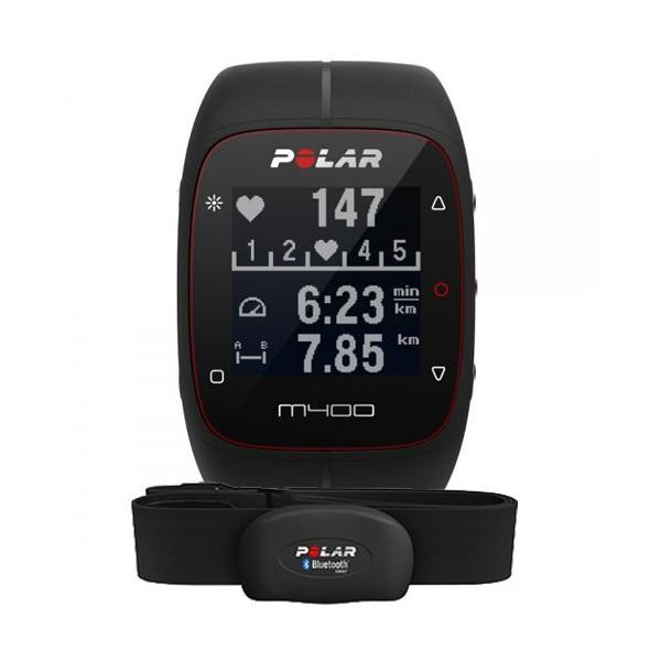 Спортивные часы Polar M400 HRM, черный