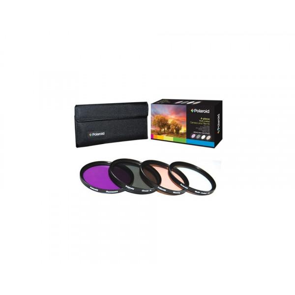 Набор из 4 фильтров Polaroid 77mm (UV, CPL, FLD, Warming)