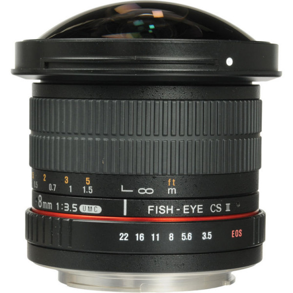 Samyang 8mm f/3.5 AS IF UMC Fish-eye CS II Canon EF