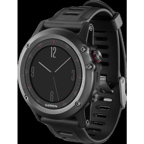 Умные часы Garmin Fenix 3 серый с черным ремешком