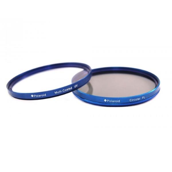 Набор из 2 фильтров Polaroid 72mm (MC UV Protector, CPL) синий