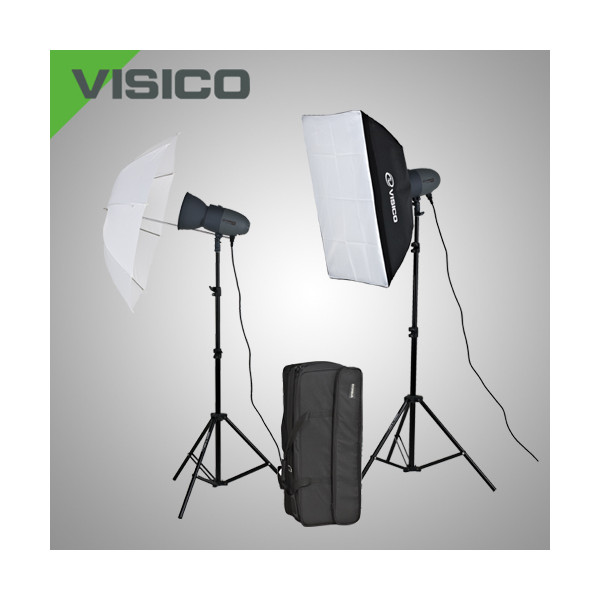 Комплект импульсного света Visico VL Plus 200 Soft Box/ Umbrella KIT