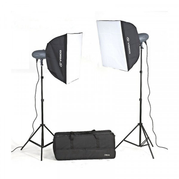 Комплект импульсного света Visico VL Plus 400 Soft Box KIT