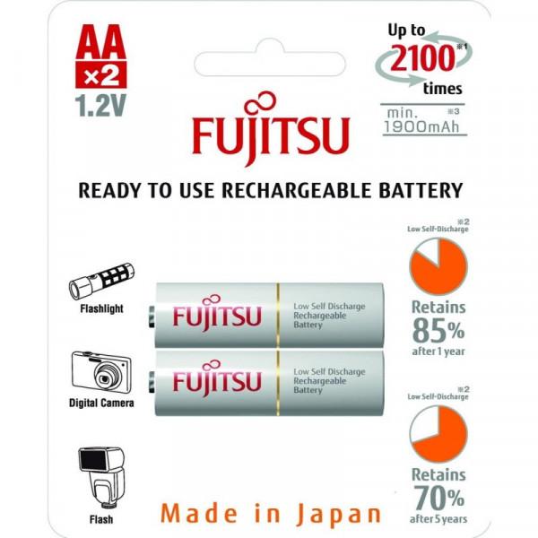 Аккумулятор Fujitsu HR-3UTCEX(2B) АА, 1900 мАч, 2 шт.