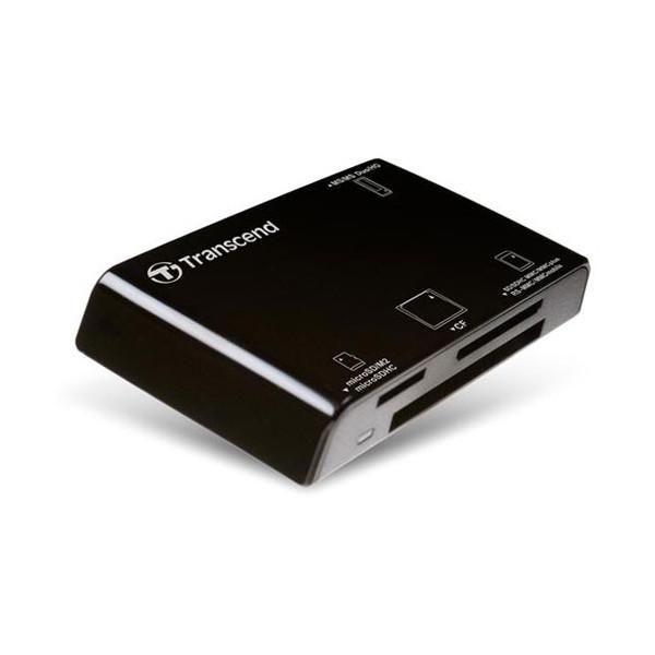 Картридер Transcend RDP8 All-in-1 USB 2.0 черный