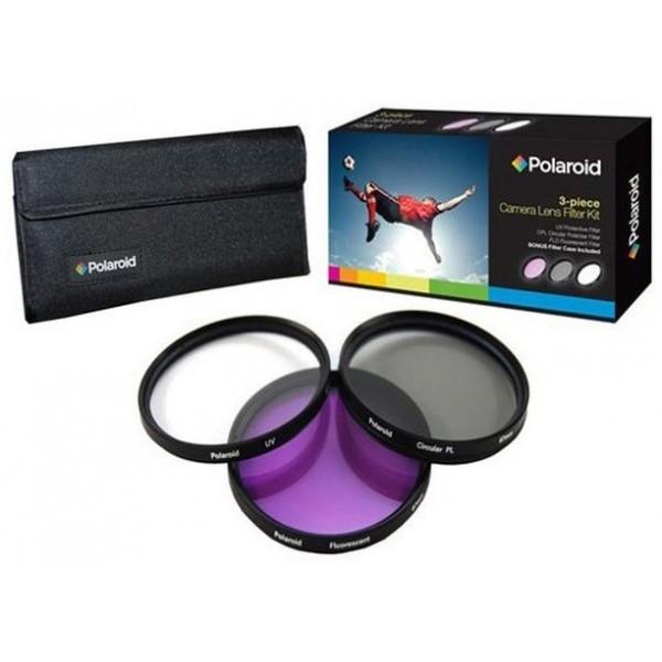 Набор из 3 фильтров Polaroid 55mm (UV, CPL, FLD)