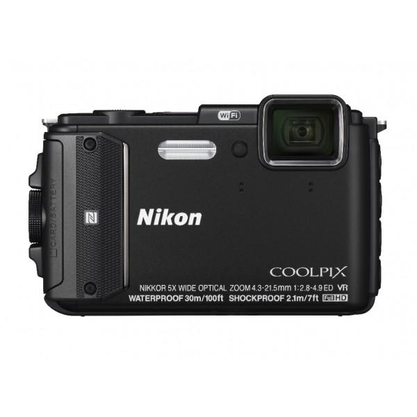 Цифровой фотоаппарат Nikon Coolpix AW130 черный (