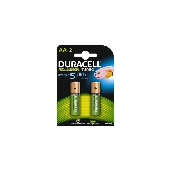 Аккумулятор Duracell AA 2400mAh/2500mAh (2/20/7500), 2 шт.
