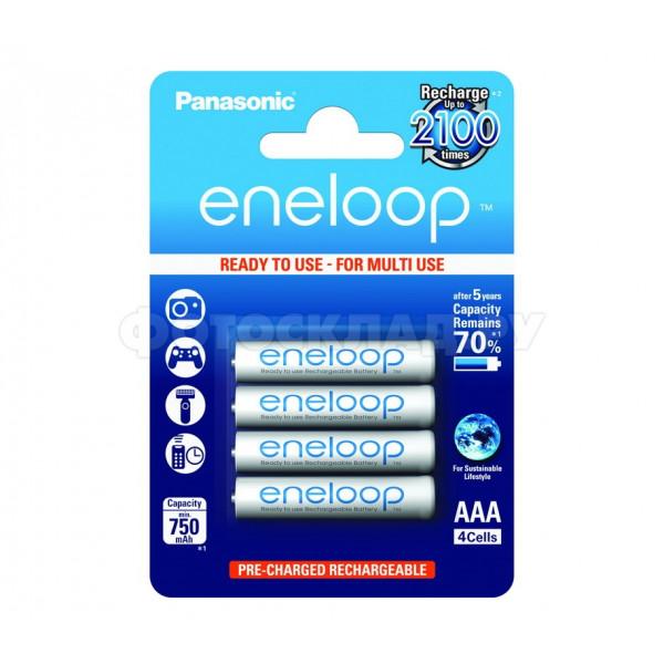 Аккумулятор Panasonic Eneloop AAA 750mAh (BK-4MCCE/4BE), 4 шт.