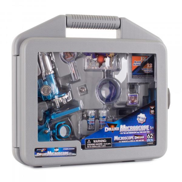 Микроскоп детский Eastcolight 100-900х в кейсе 62 предмета