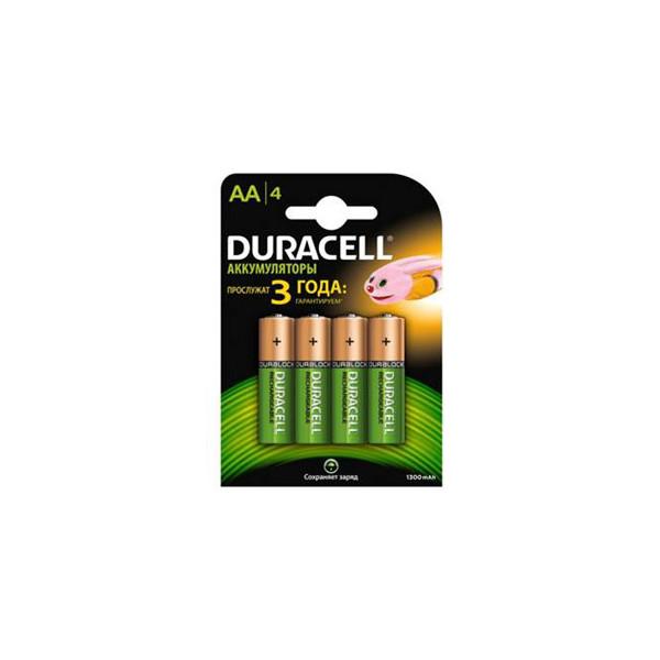 Аккумулятор Duracell AA 1300mAh (4/40/18000), 4 шт.