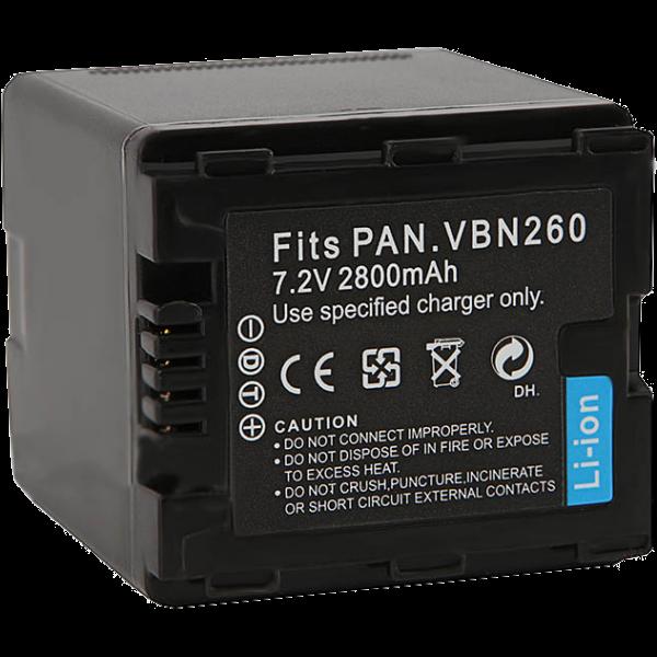 Аккумулятор FUJIMI VW-VBN260 для Panasonic HC-X800, X900, X909, HDC-HS900, SD800, SD900, TM900