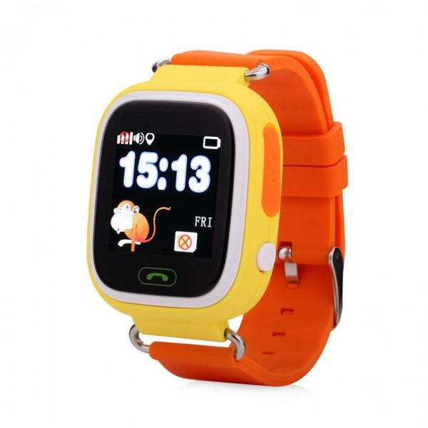Детские умные часы Smart Baby Watch Q80, оранжевые