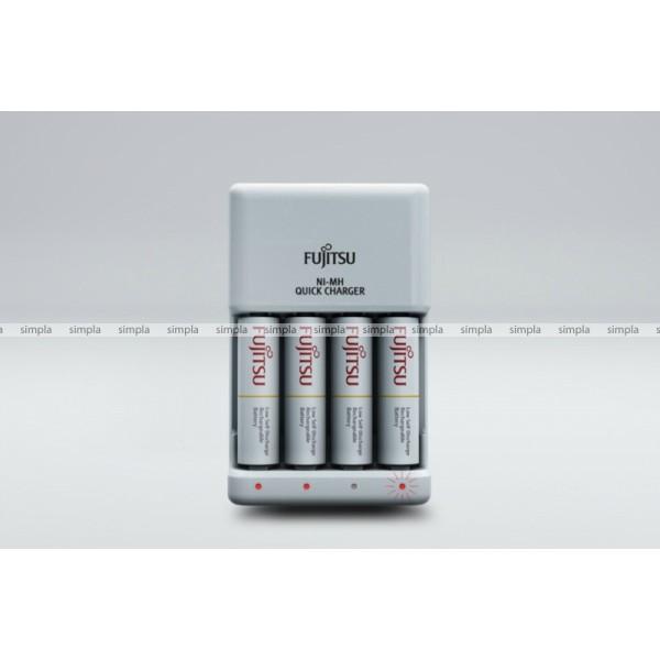 Зарядное устройство Fujitsu Quick Charger FCT344-CEFX(CL) для 4 или 2 акк АА/ААА Ni-MH, + 4шт АА 1900 mAh