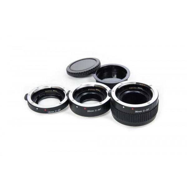 Набор удлинительных колец Flama FL-N68A AF для макросъемки на Nikon F (алюминий)