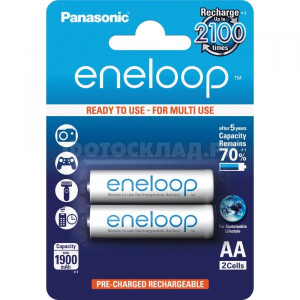 Аккумулятор PANASONIC Eneloop AA 1900 2BP(BK-3MCCE/2BE) 2 шт.