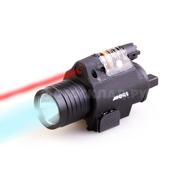 Фонарь тактический Veber ML1-R с красным лазерным целеуказателем