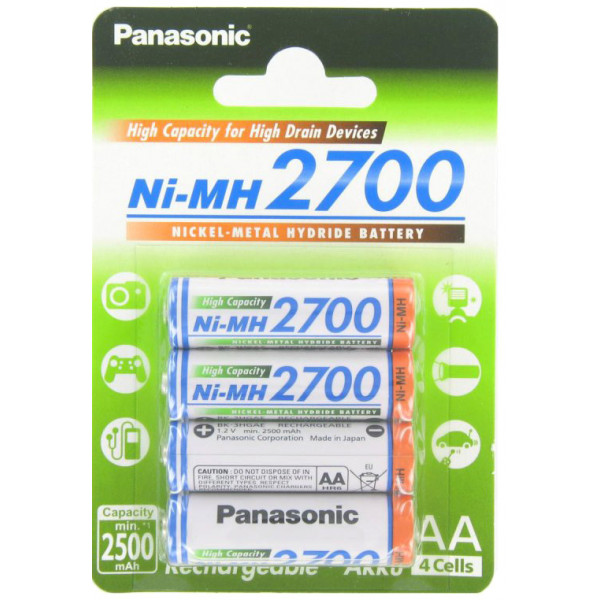 ����������� PANASONIC AA 2700 4BP(BK-3HGAE/4BE), 2700 ��� (������� 4 ��)