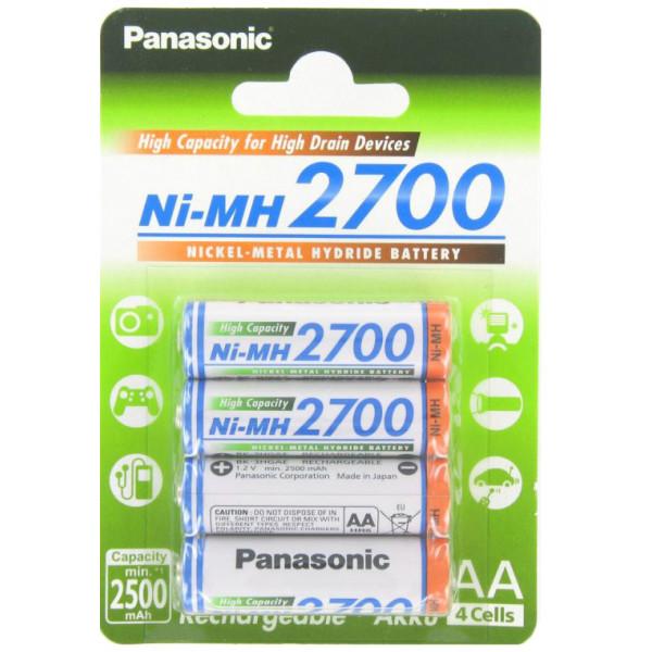 Аккумулятор Panasonic AA 2700mAh (BK-3HGAE/4BE), 4 шт.