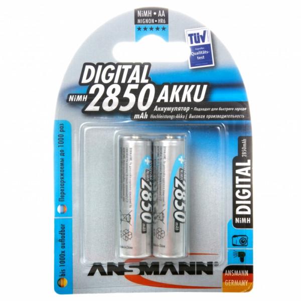 Аккумулятор Ansmann Digital AA 2850 mAh 5035082, 2 шт.